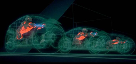TRON lightcycles